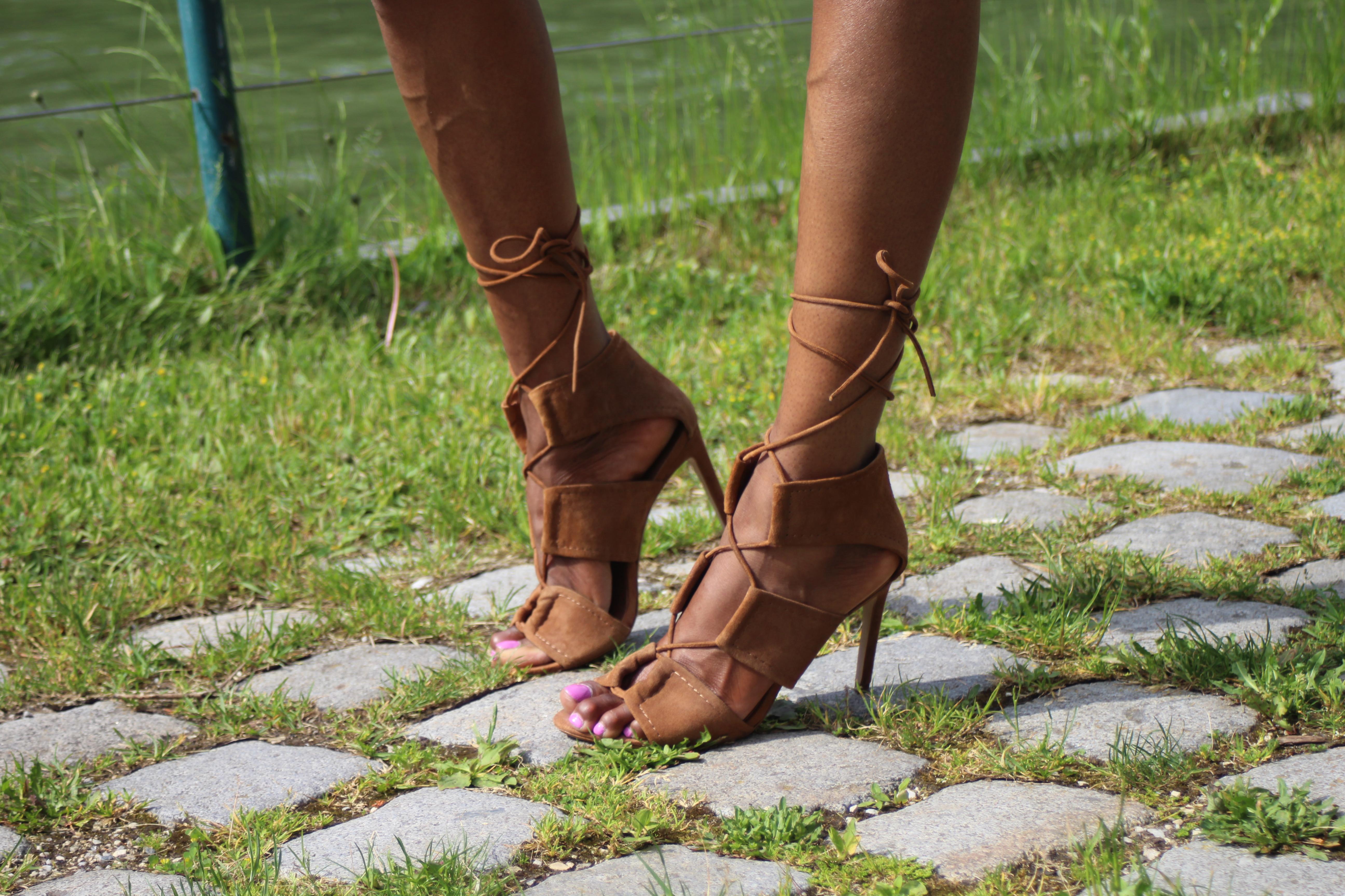 denim dress sandals