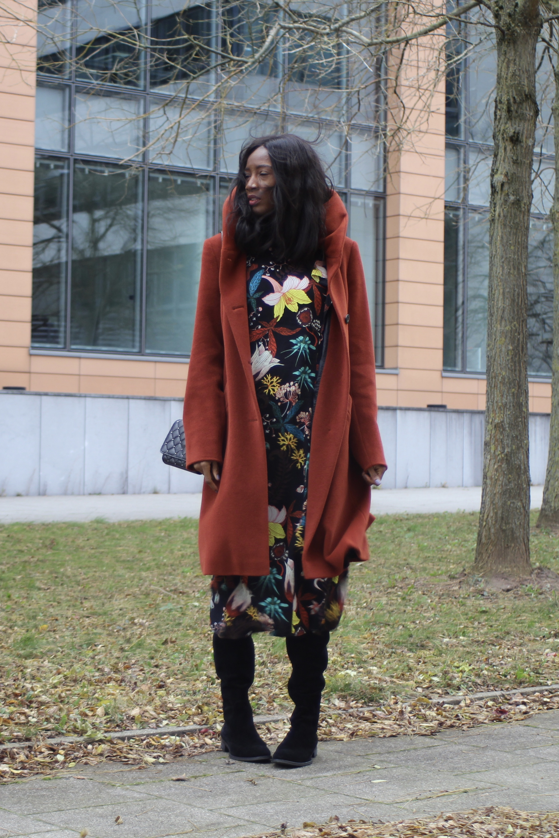 floral dress statement coat