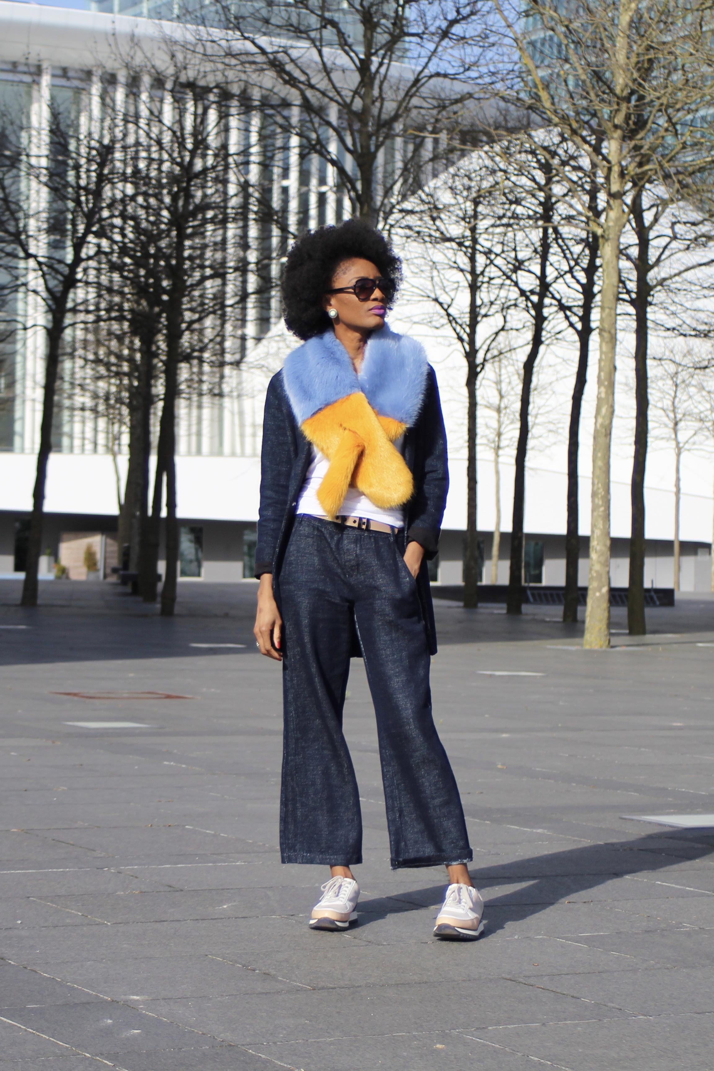 Street Style Faux Fur Stole