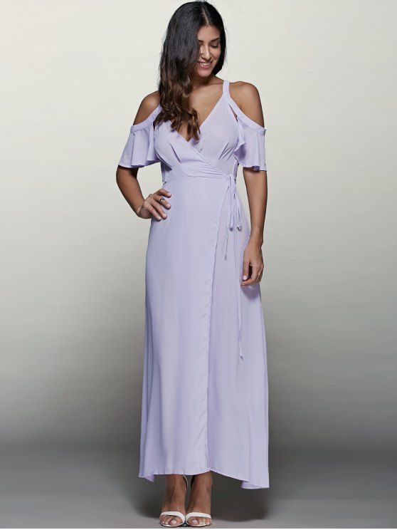 PURPLE MAXI DRESS IN SPRING