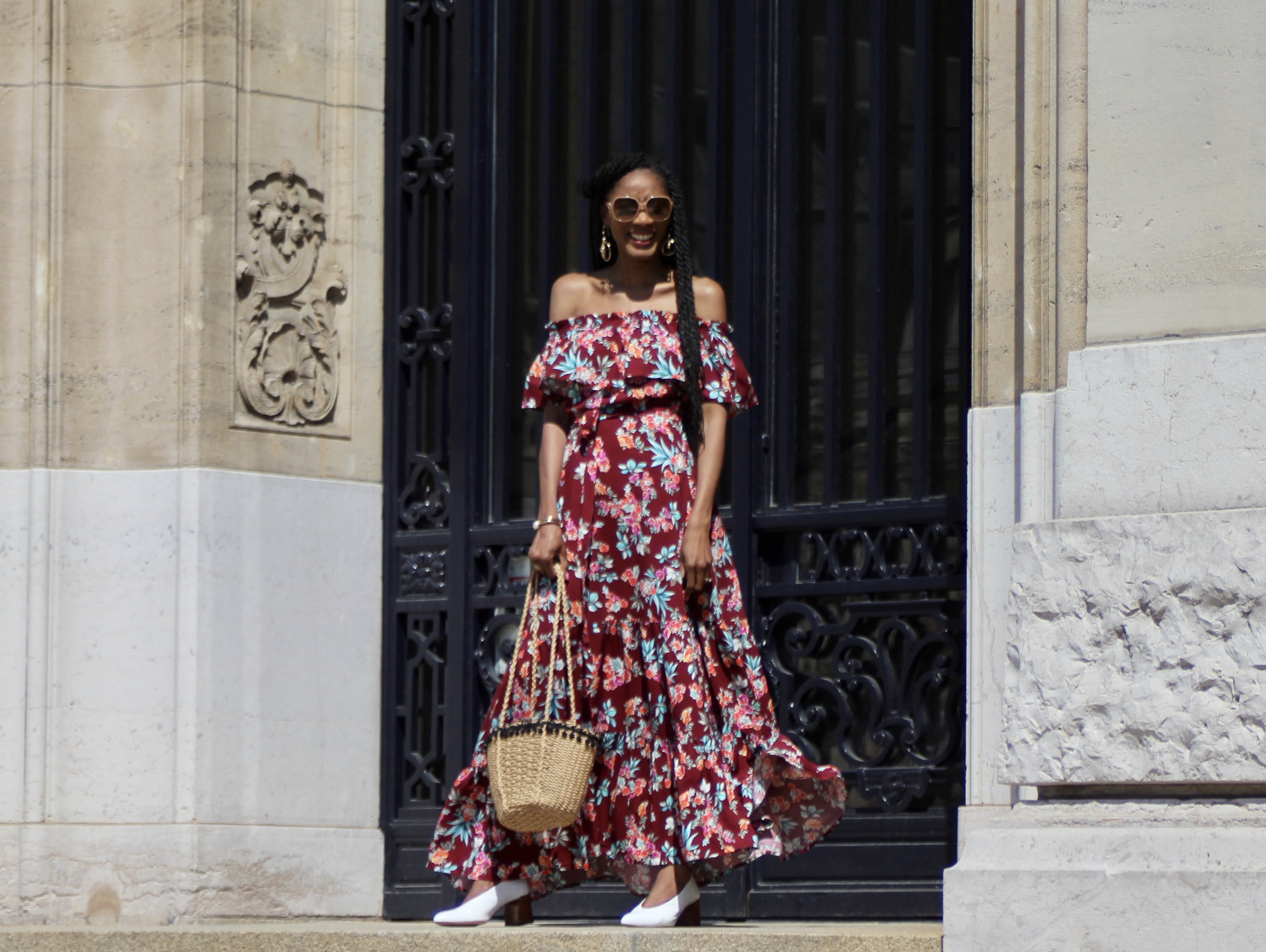 ruffles maxi off shoulder dress Zaful review