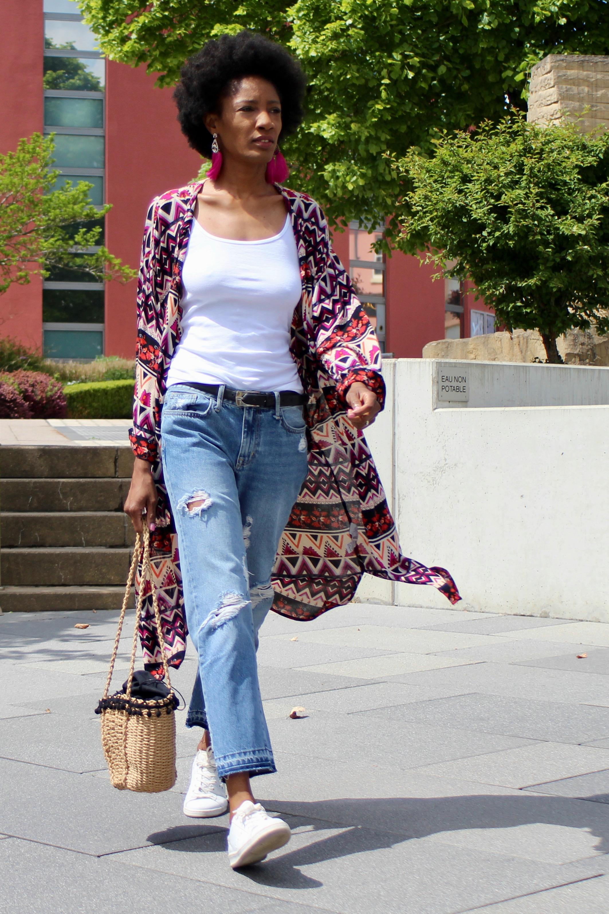 kimono casual outfit