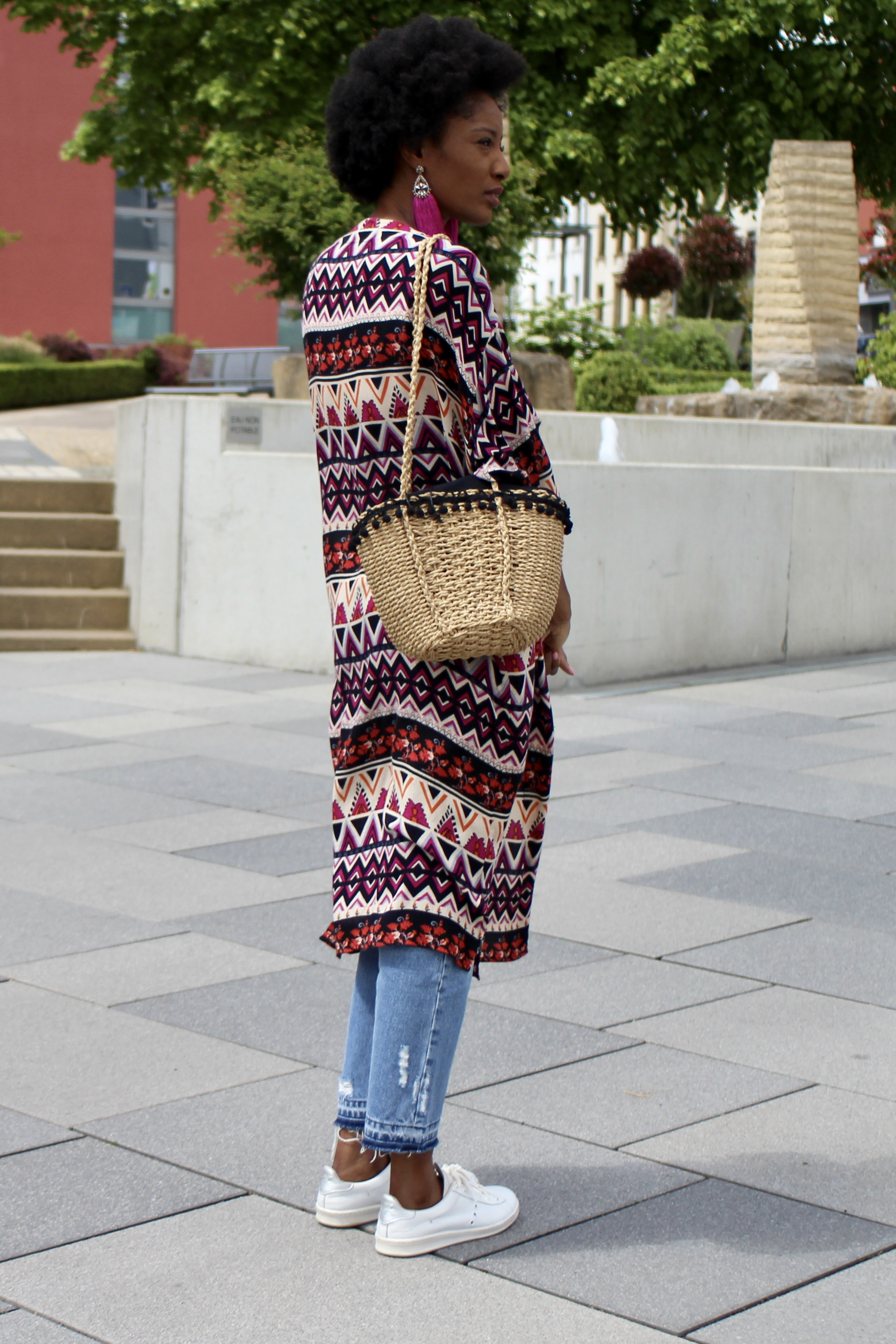 kimono causal outfit