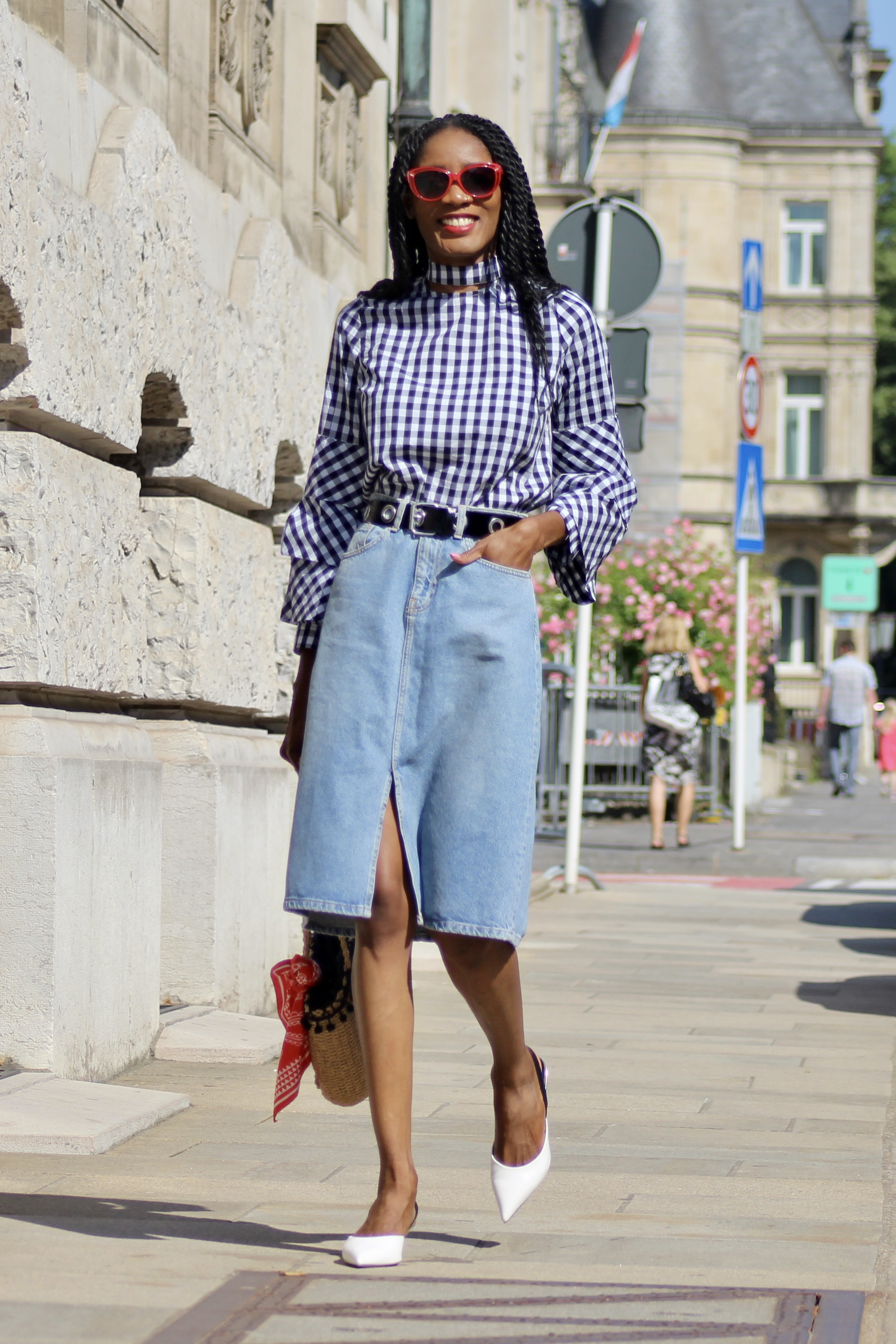checked blouse Zaful review summer wishlist