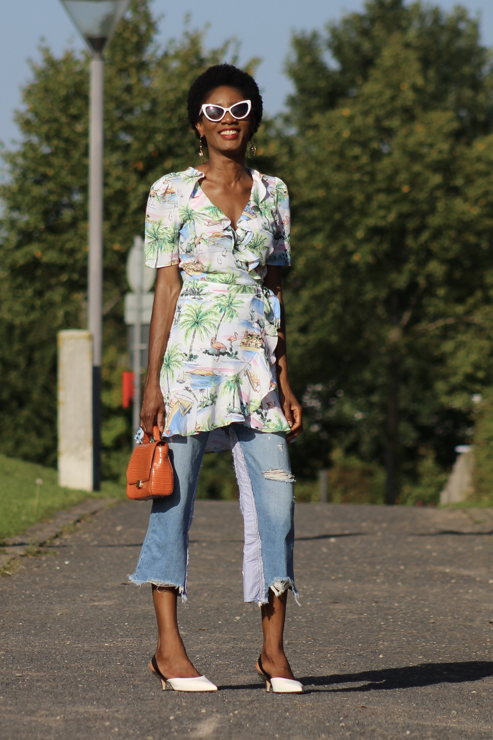mini wrap dress boots jeans slingbacks