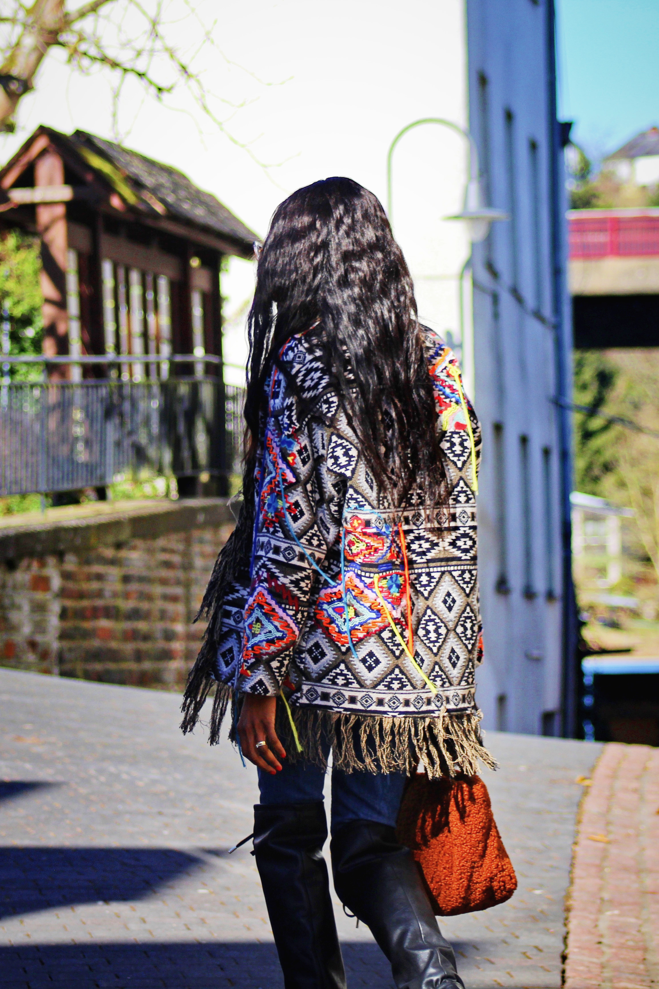 fringe jacket look