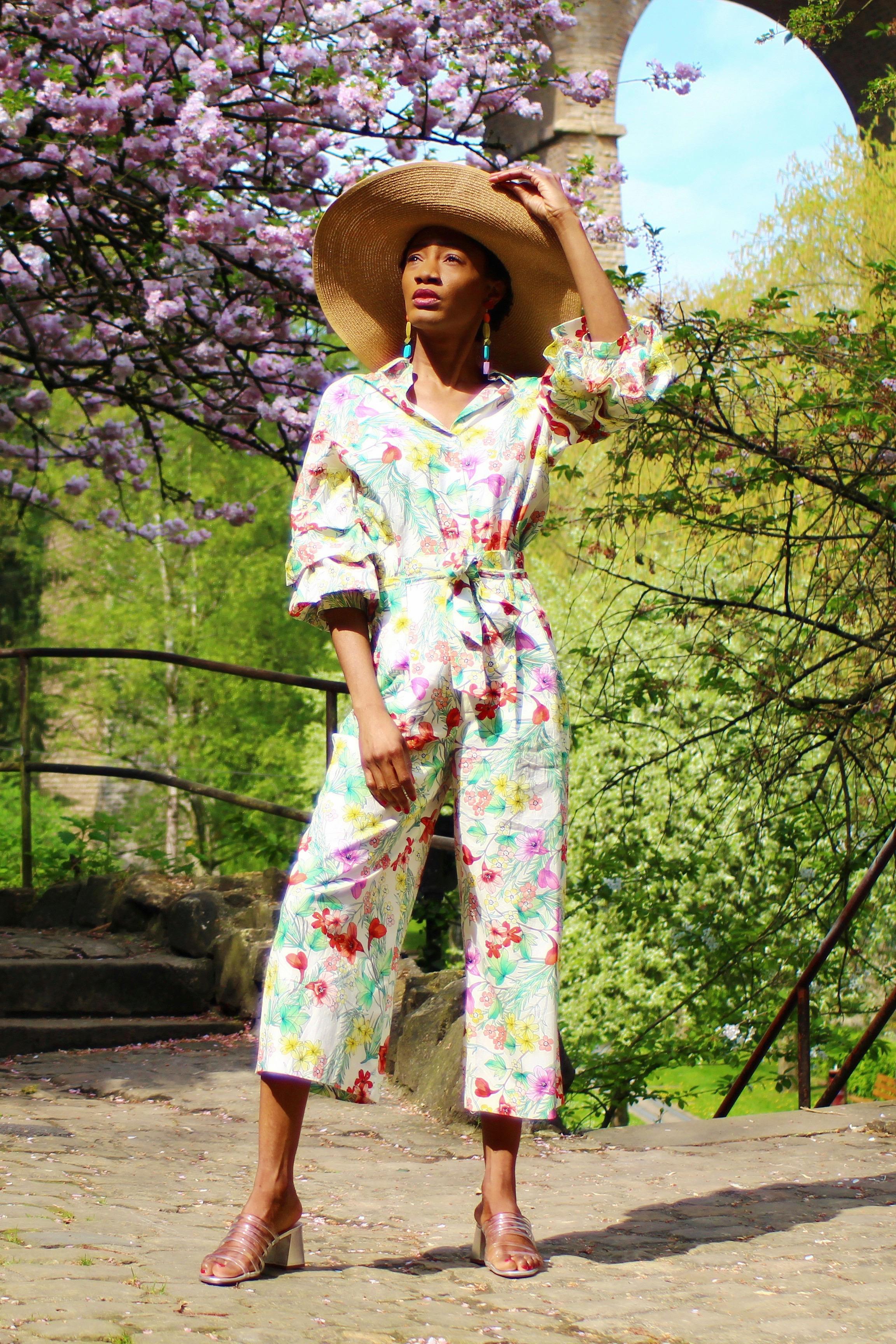 spring summer matching floral set